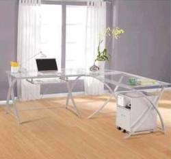 Realspace Zentra 3-Pc. L-Shaped Desk Set