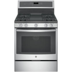 GE PGB911SEJSS 5.6-Cu. Ft. 5-Burner Convection Gas Range in Stainless Steel