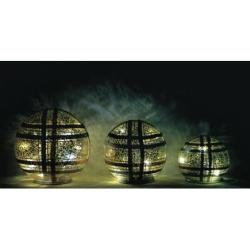 Holiday Tabletop Glass Sphere 3-Pk. in Metallic or Multi