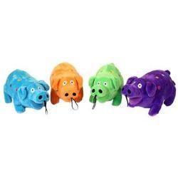 Polka Plush Pig Dog Toy