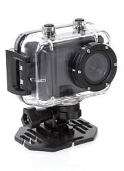 VP100 1080p HD Action Camera w/ Waterproof Case, Mounts, Remote Control, & Card