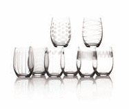 Mikasa Cheers 15-Oz. Stemless Wine Glass 8-Pc. Set