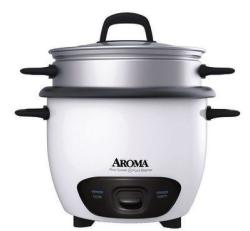 Aroma 6-Cup Rice Cooker & Steamer