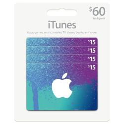 Apple iTunes $60 Gift Card Multi Pack