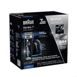 Braun Series 7 Pulsonic Self Cleaning Shaver w/ Bonus Refills
