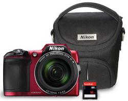 Nikon COOLPIX L840 16MP 38x Digital Camera w/ 16GB Card & Case