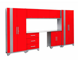NewAge Products Performance Series 8-Pc. Cabinetry Set in Red