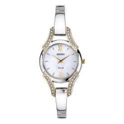 Seiko Women's SUP214 Solar Watch in Mother of Pearl