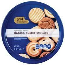 Buy 1, Get 2nd Free Golden Emblem 12-Oz. Danish Butter Cookies