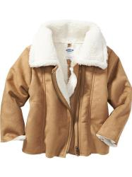 Toddler Girls' Sherpa Moto Jackets
