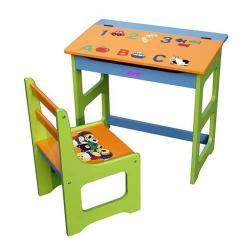 Kids' Colorful Desk & Chair Set