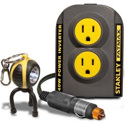 Stanley FatMax 140W Power Inverter, Keychain $20