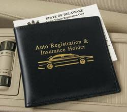 Auto Registration and Insurance Wallet 3-Pack $5