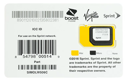 Sprint 3-in-1 Universal SIM Card for $3 + free shipping