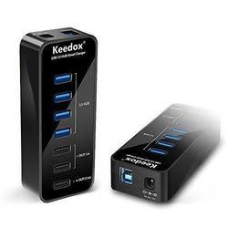 Keedox Powered 7-Port USB 3.0 Hub