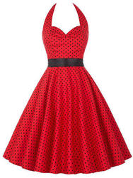SheIn Women's Polka Dot Halter Flare Dress for $19