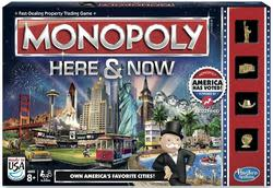 Monopoly Here & Now Board Game for $6